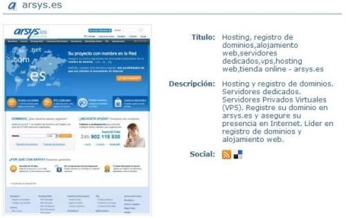Imagen resumen arsys.es