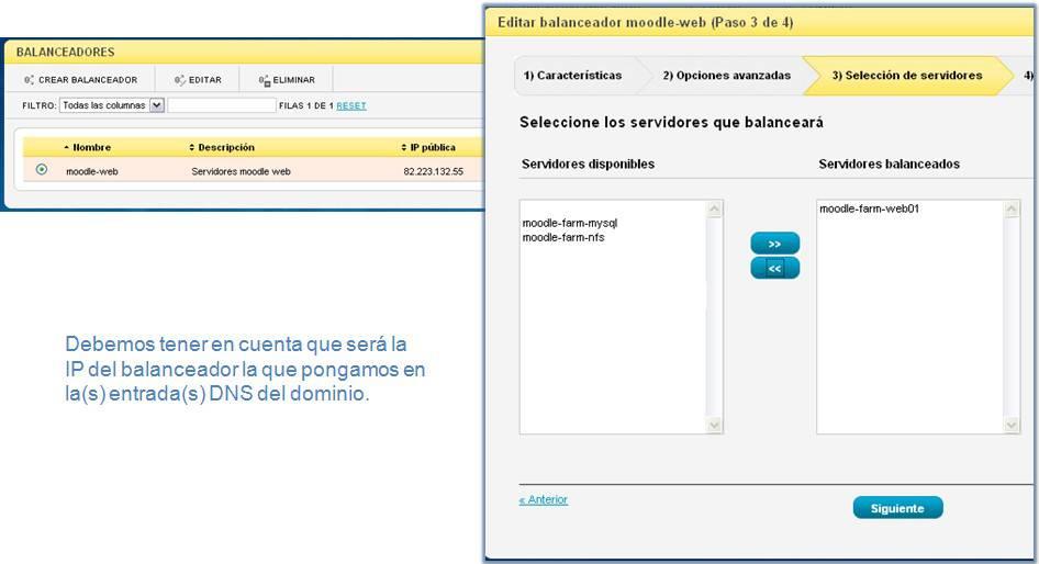 Asignar servidor web al balanceador en CloudBuilder ®