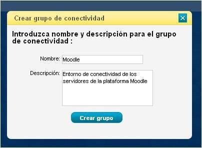 Crear grupo de conectividad CloudBuilder ®