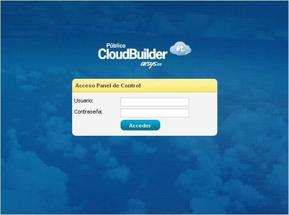 Panel de Control CloudBuilder ®