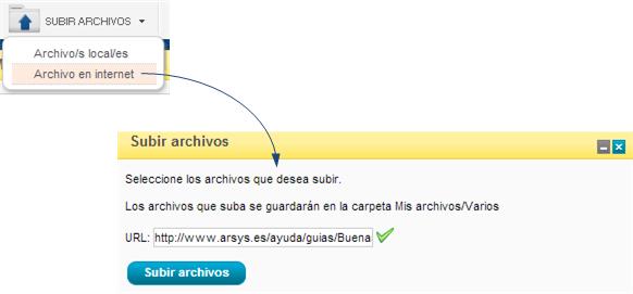 Subir archivos desde URL