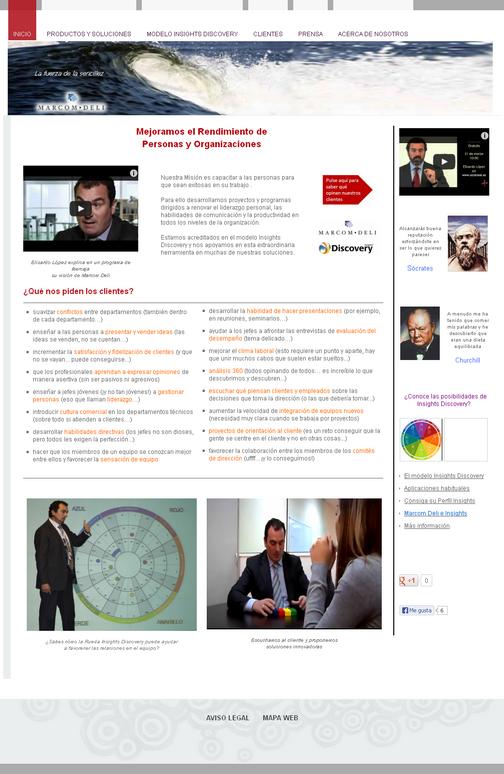 MarcomDeli.com, Mejor página webmaker de abril