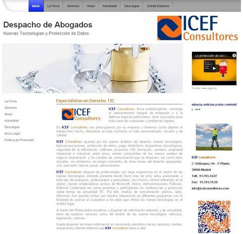 ICEFConsultores.com, Finalista del concurso a la Mejor página webmaker de junio.