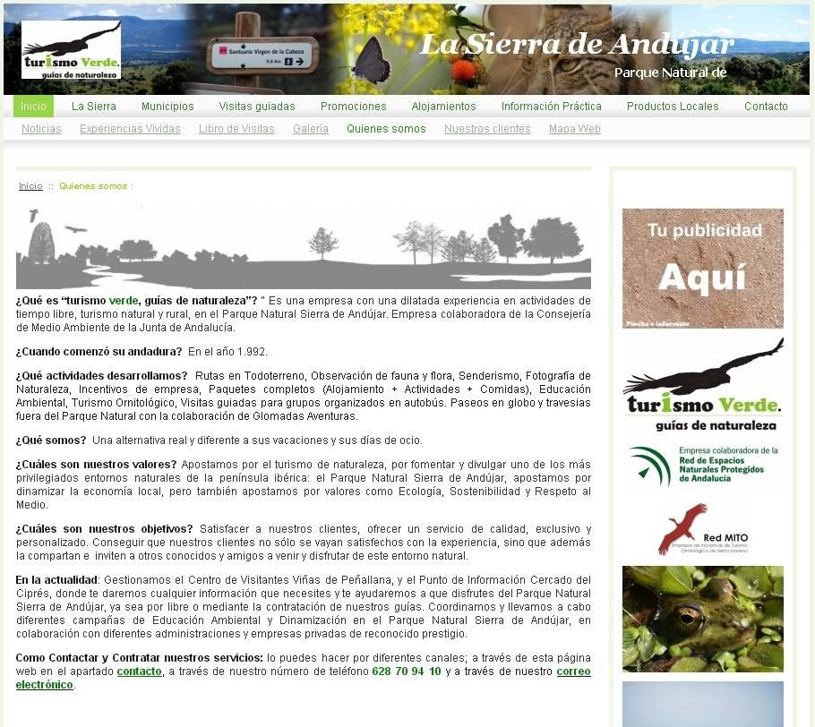 LaSierradeAndujar.com, Mejor página webmaker de junio.