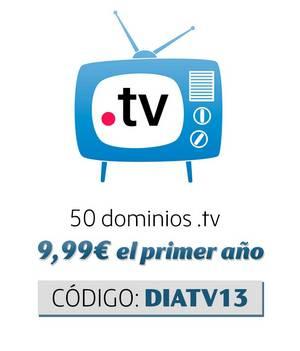 Promoción dominios  .TV