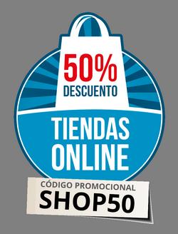 50% de descuento en Tiendas Online