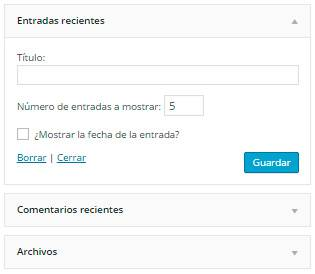 Wordpress-widget-configuracion
