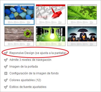 Plantillas responsive en Webmaker