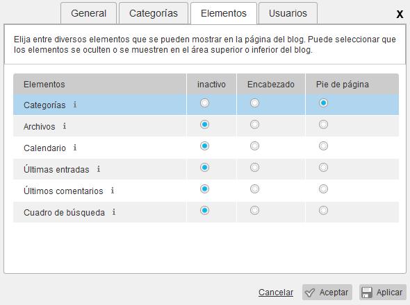 Configuración del blog en Webmaker