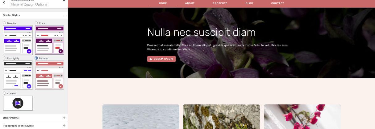 Material Design para WordPress