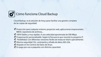 Cómo utilizar Cloud Backup de Arsys