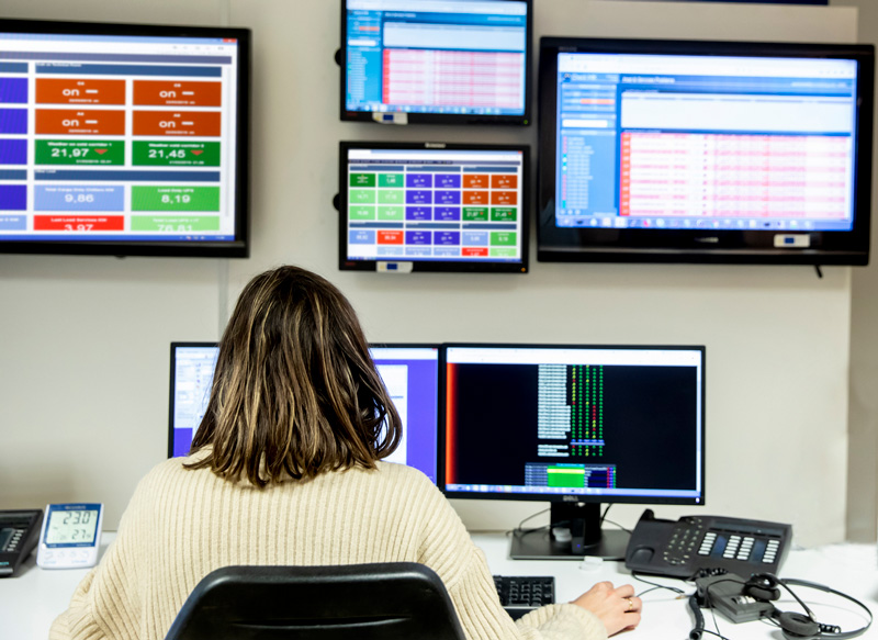 Sala de monitorización - CPD Arsys